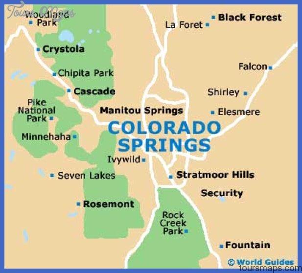 colorado springs map El Paso Map Tourist Attractions