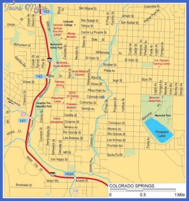 coloradospringscitycenter 1 Colorado Springs Metro Map