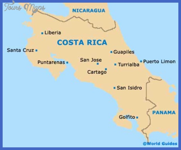 costa rica map San Jose Map Tourist Attractions