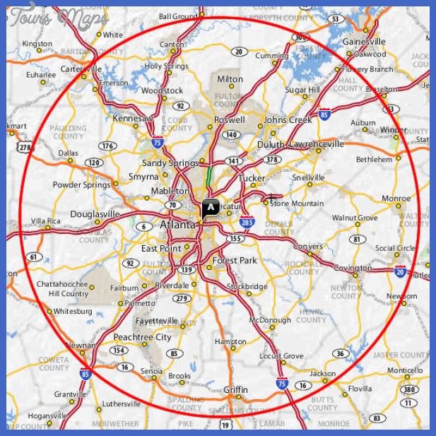 coverage area map Atlanta Metro Map