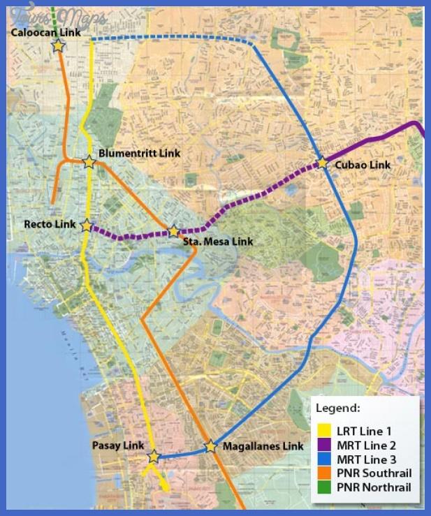current lrt mrt and pnr1 Manila Subway Map