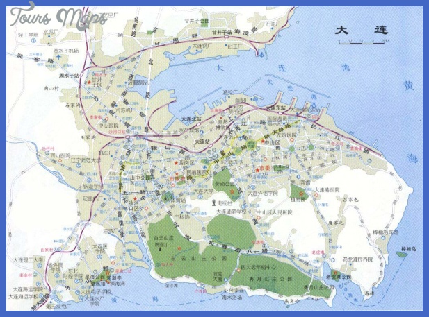 dalian map tourist attractions  7 Dalian Map Tourist Attractions