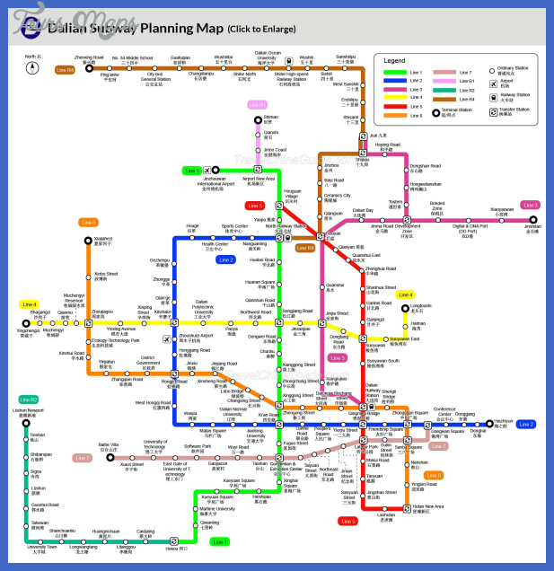 dalian subway map  6 Dalian Subway Map