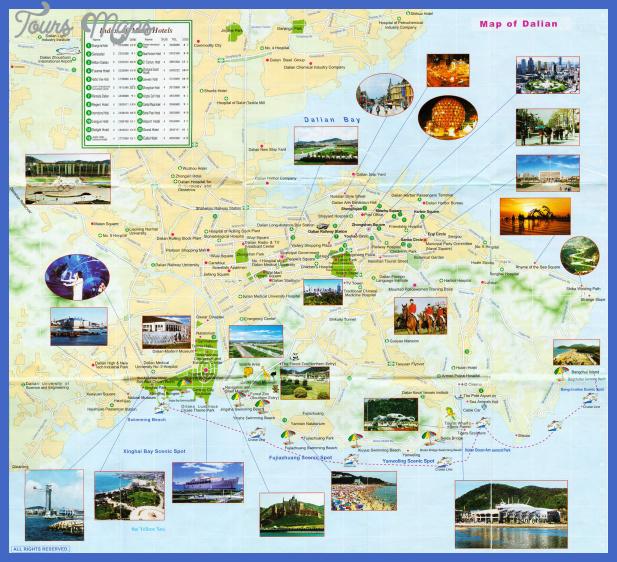 dalian tourist map 2 China Map Tourist Attractions