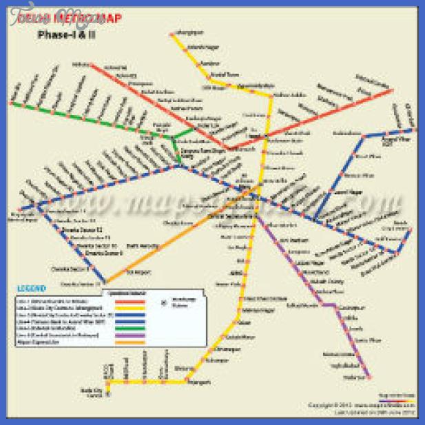 delhi metro phase South Sudan Metro Map