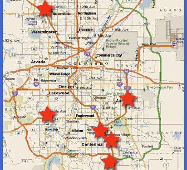 map denver colorado - Teacheng.us