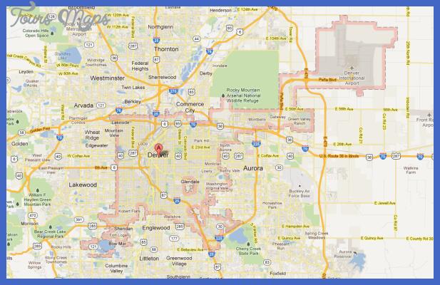 denver colorado map Denver Map