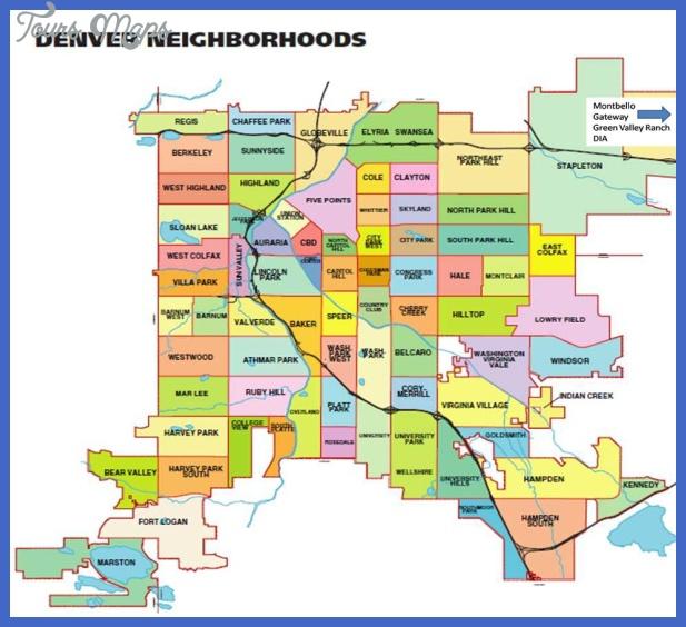 denver county map Denver Map