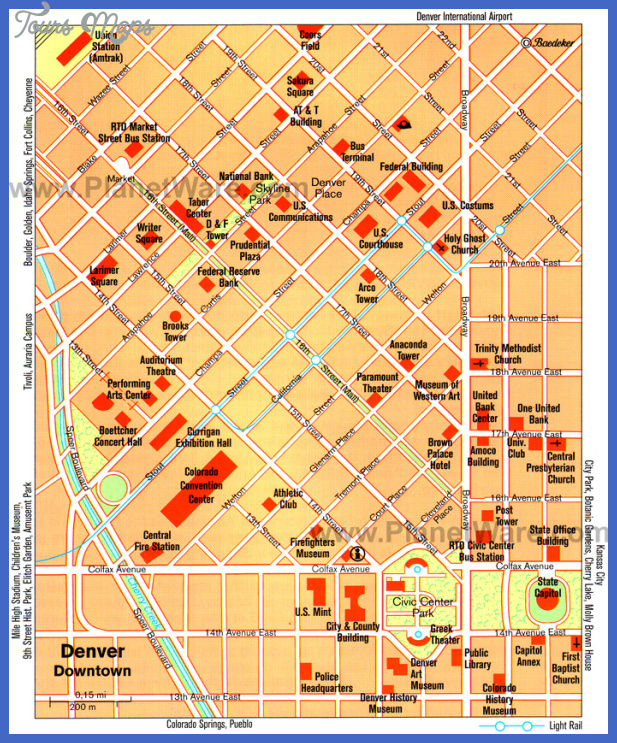 denver map tourist attractions  2 Denver Map Tourist Attractions