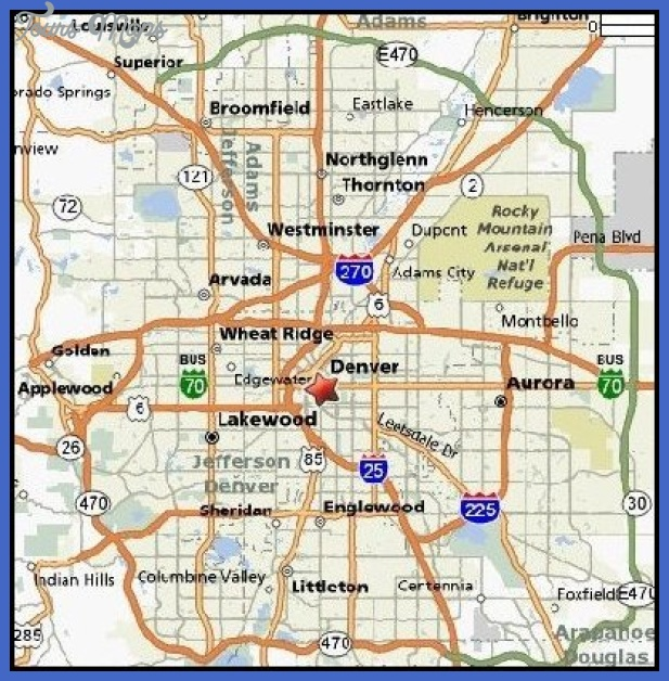 Denver Map Tourist Attractions ToursMapsCom – Denver Tourist Attractions Map