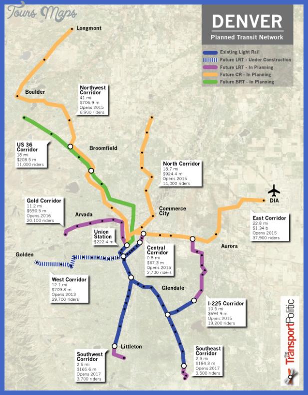 denver planned transit network Denver Subway Map