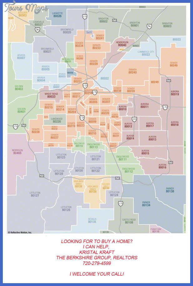 denver zip code map d kk Colorado Springs Metro Map