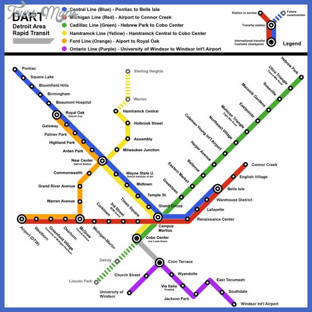 Detroit Subway Map  Map  Travel  Holiday  Vacations