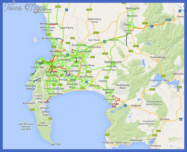 Cape Town Metro Map ToursMapscom