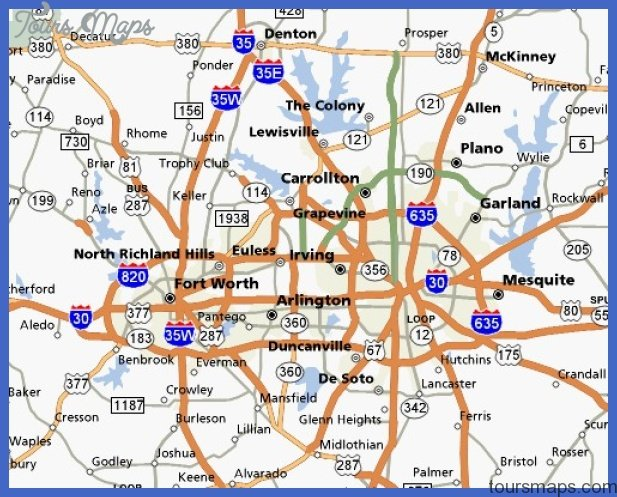 dfw metroplex Fort Worth Subway Map