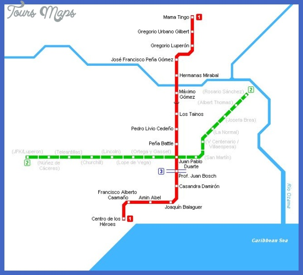dominican republic metro map  2 Dominican Republic Metro Map