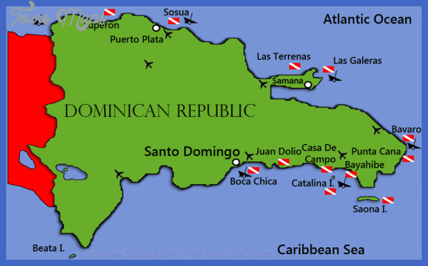 Dominican Republic Map Toursmaps Com