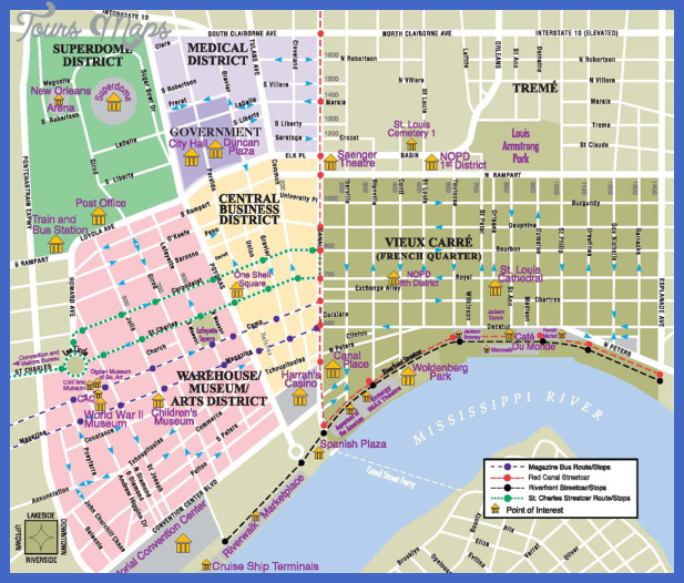 This is a photo of Printable Maps of New Orleans throughout road map