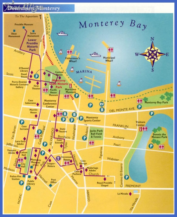 downtown monterey Bakersfield Map Tourist Attractions