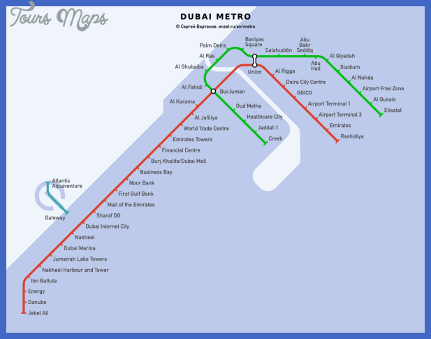 Dubai Metro Map - ToursMaps.com ®