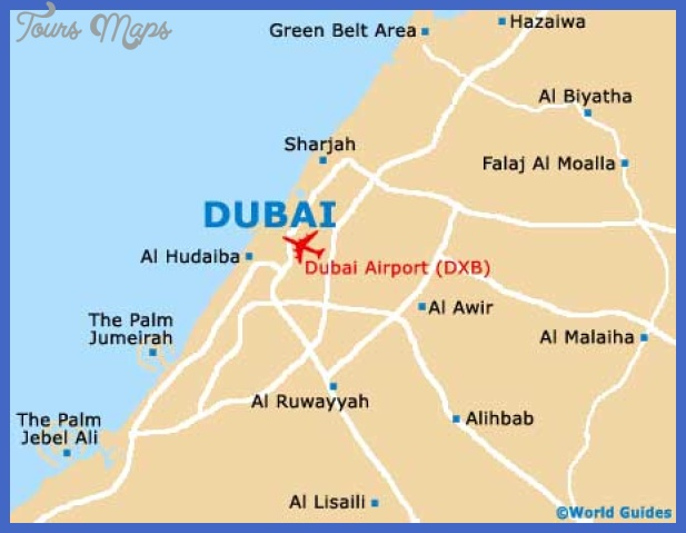 dubai map  2 Dubai Map