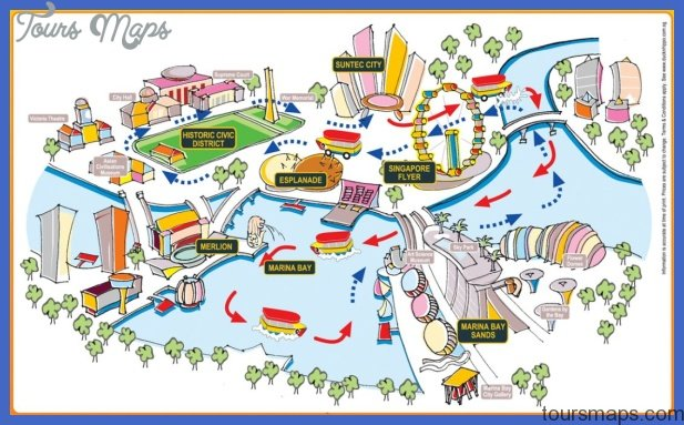 ducktour map Singapore Map Tourist Attractions