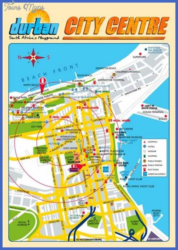 durban city center map mediumthumb Durban Map