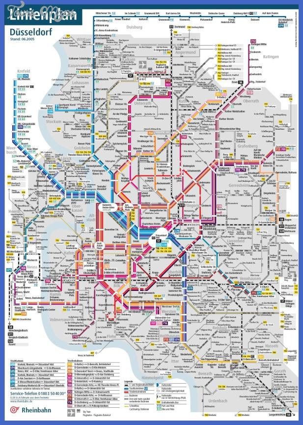 dusseldorf metro map 1 Germany Metro Map