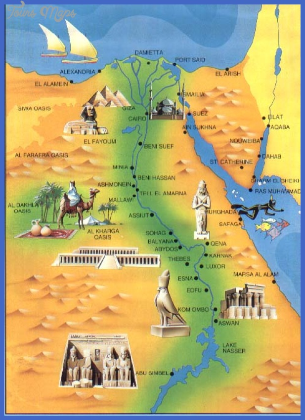 Egypt Map Tourist Attractions ToursMapsCom – Tourist Attractions Map In Egypt