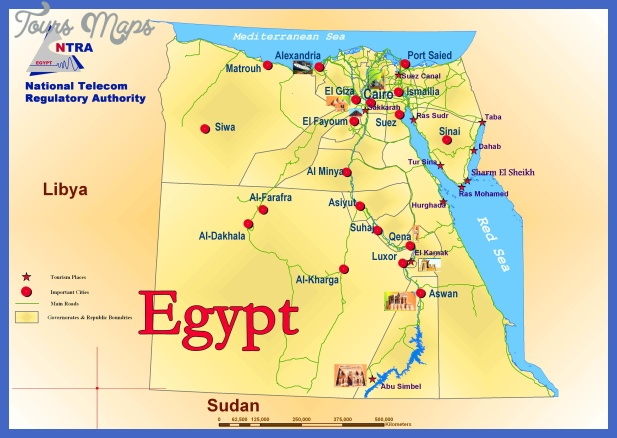 egypt political and tourist map Egypt Map Tourist Attractions
