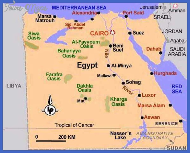egypt map Egypt Map Tourist Attractions