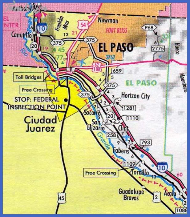 elpasocounty El Paso Map Tourist Attractions
