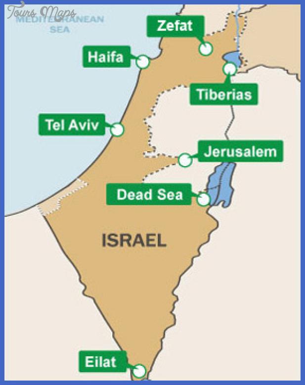 en map israel Tel Aviv Map Tourist Attractions