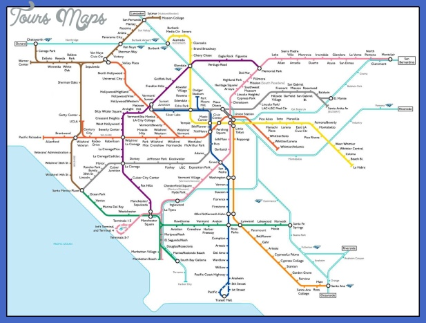 fake la transit map Los Angeles Metro Map