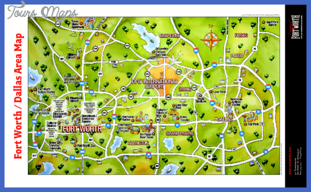 fort worth map tourist attractions  2 Fort Worth Map Tourist Attractions