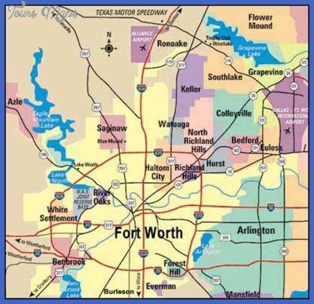 Fort Worth Map Tourist Attractions ToursMapsCom – Fort Worth Tourist Attractions Map