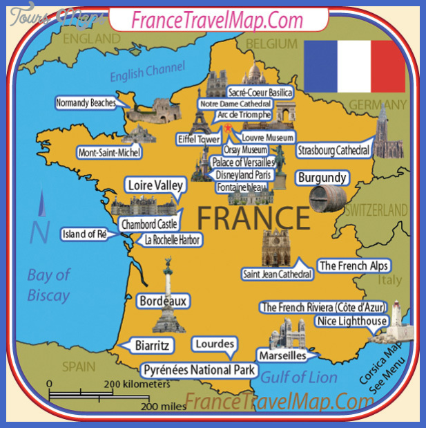 france map tourist attractions  0 France Map Tourist Attractions