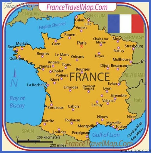 France Map Tourist Attractions ToursMapscom