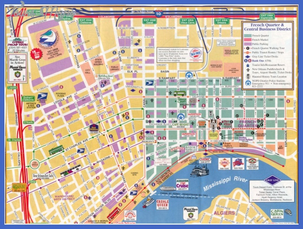 Map Of France Tourist Attractions.New Orleans Map Tourist Attractions Toursmaps Com