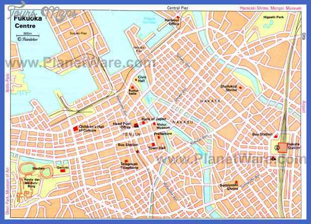 fukuoka centre map Fukuoka Map Tourist Attractions