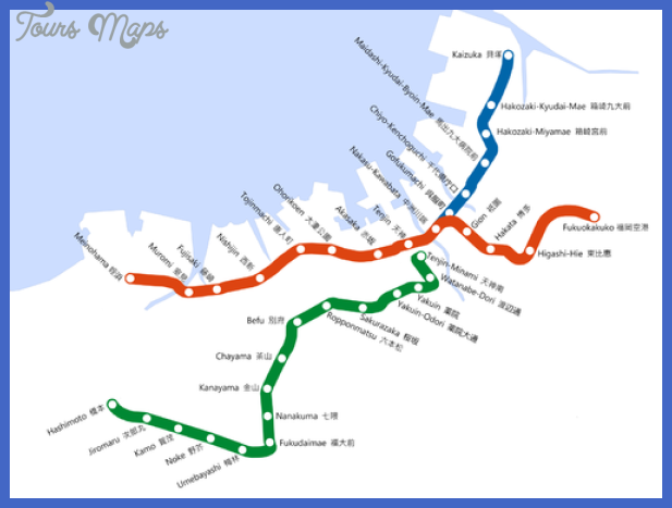 fukuoka metro map  2 Fukuoka Metro Map