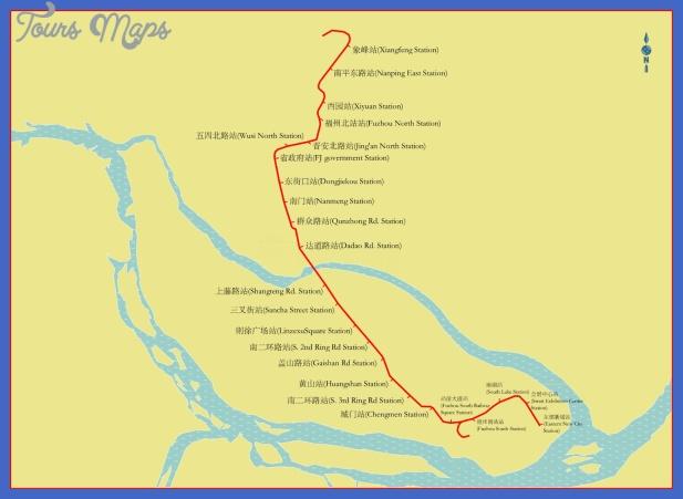 fuzhou metro map  2 Fuzhou Metro Map