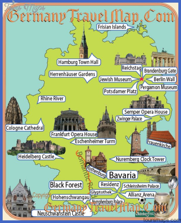 Germany Map Tourist Attractions Map Travel Holiday Vacations - Berlin map of tourist attractions