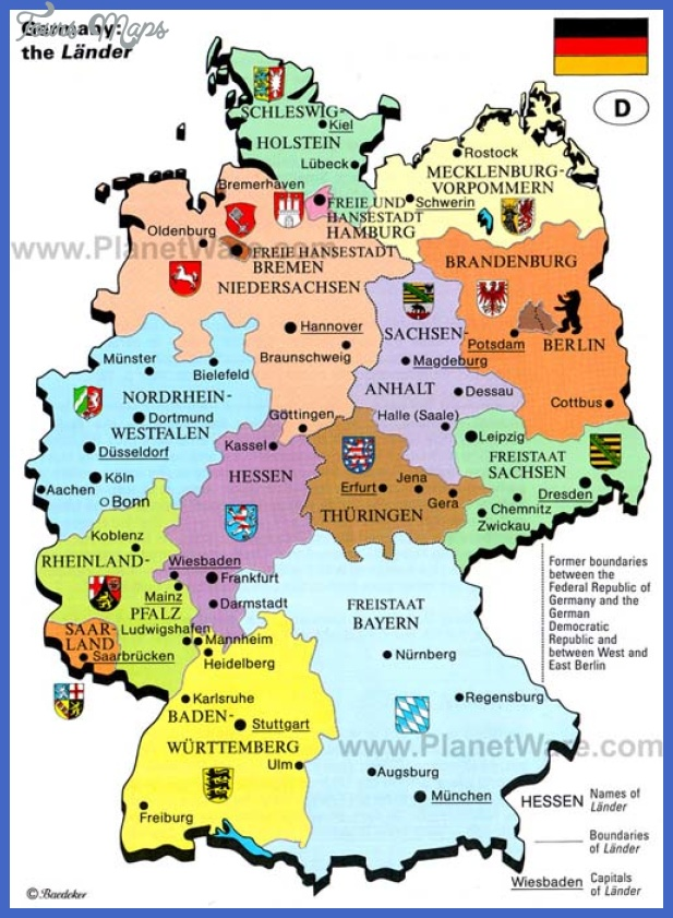 Germany Map Tourist Attractions Map Travel Holiday Vacations - Germany map mannheim