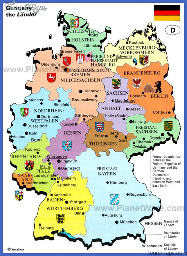 germany the lander map Germany Map