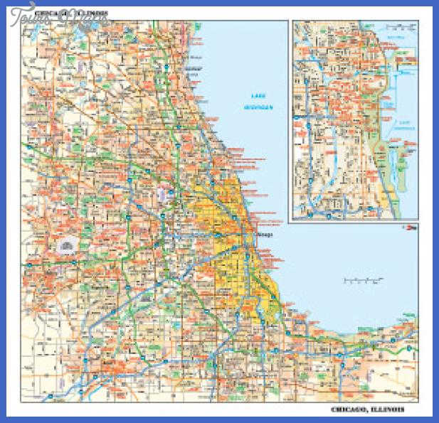 gn ci chicago c Chicago Metro Map
