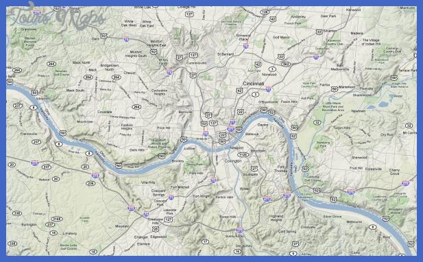 google map Cincinnati Map