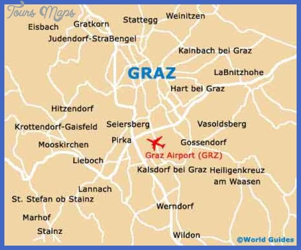 Austria Map Tourist Attractions ToursMapscom
