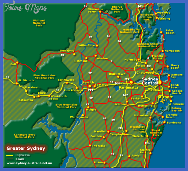 greater sydney map Sydney Map
