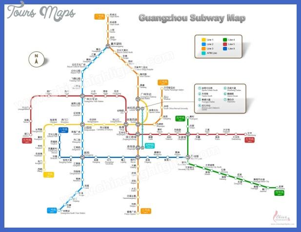 guangzhou metro map  4 Guangzhou Metro Map